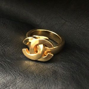 Authentic gold chanel ring